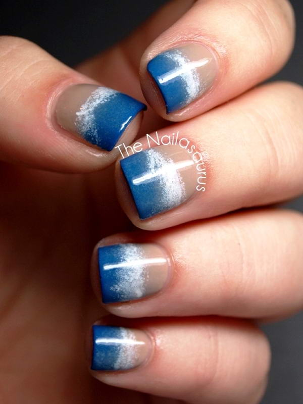 ocean wave nail art - Will You Try These Ocean Wave Nail Arts?