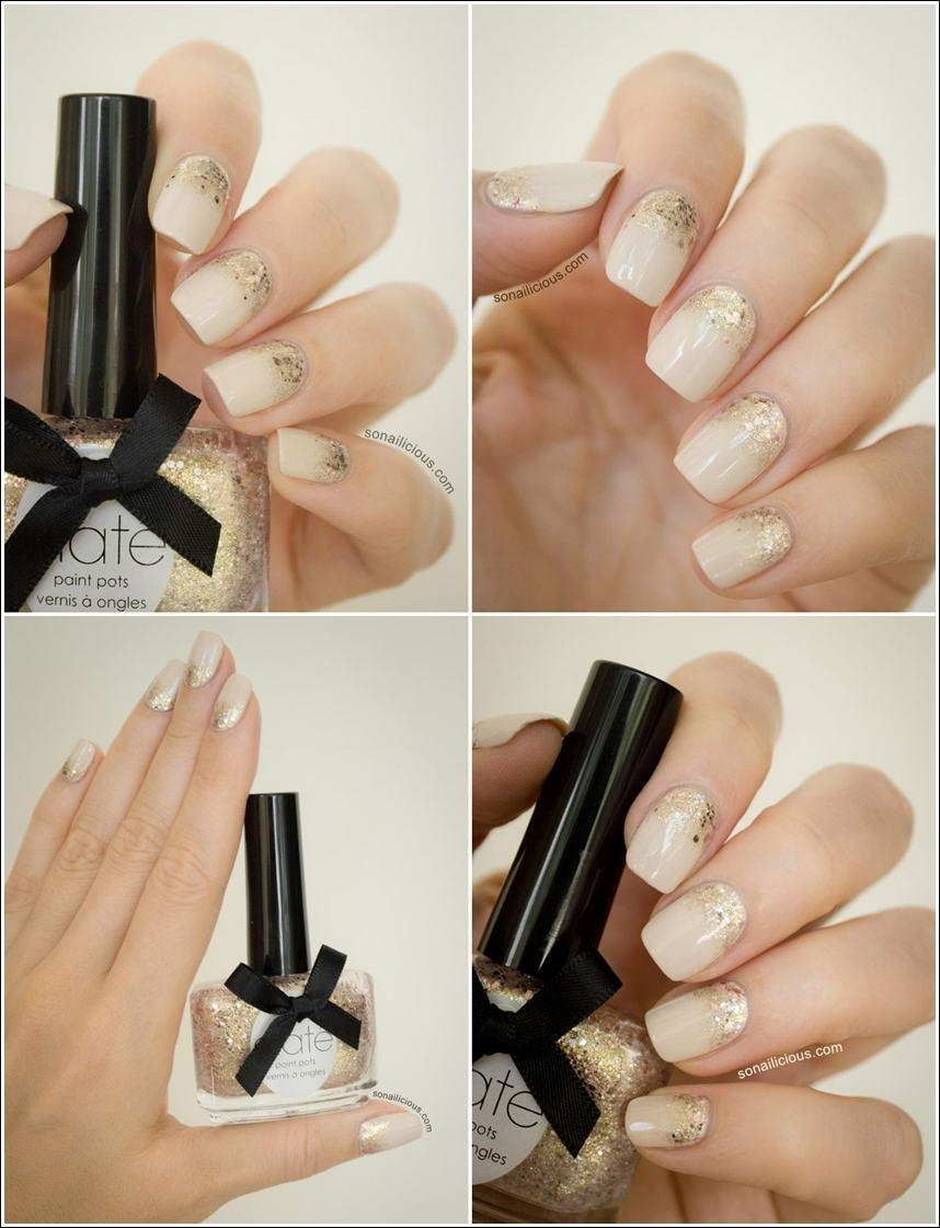 Gorgeous and Elegant Neutral Nail Art