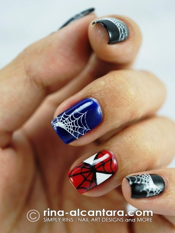 Who wants to get these superhero nail arts spiderman nail art prinsesfo Gallery