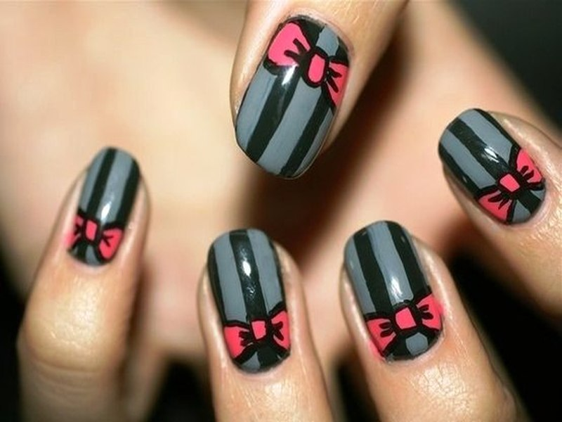 Would You Like To Try These Cute Bow Nail Arts