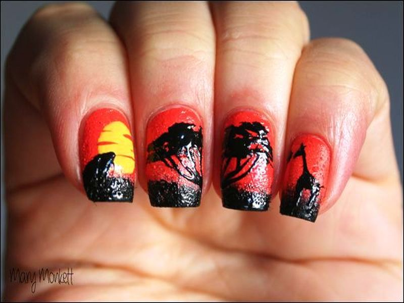 Who Wants To Try These Scenic Sunset Nail Arts