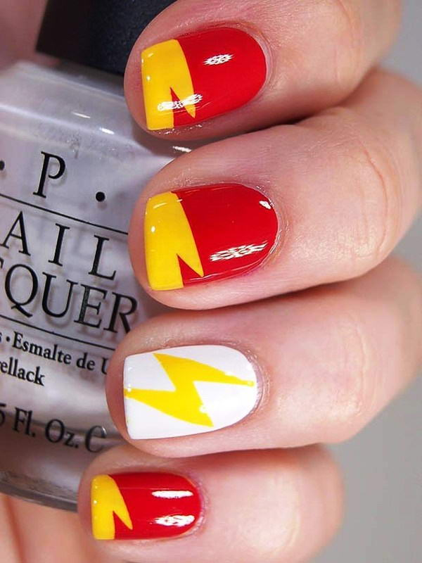 Who wants to get these superhero nail arts flash nail art prinsesfo Gallery