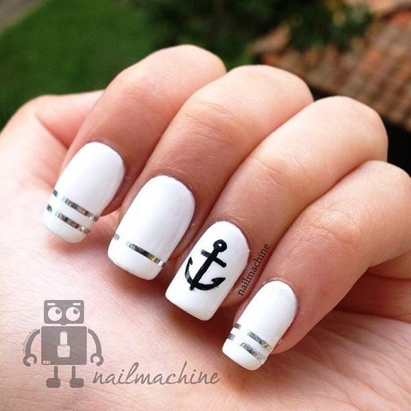 Who wants to get these anchor nail arts prinsesfo Gallery