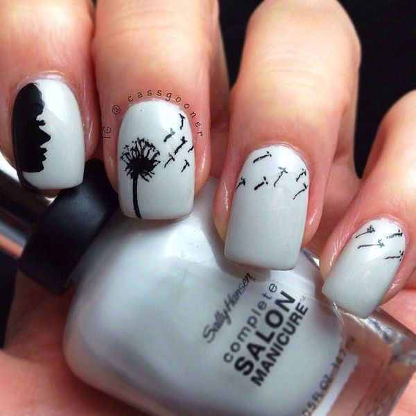 Will You Try These Dandelion Nail Arts