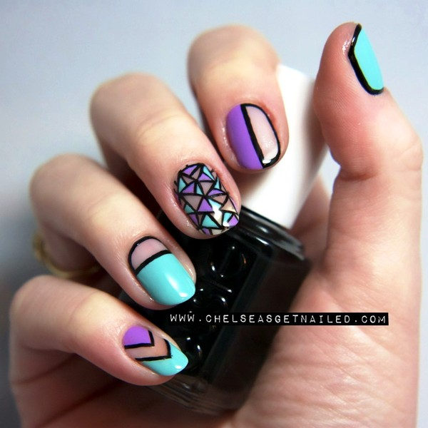 Will you try these geometric nail arts prinsesfo Images