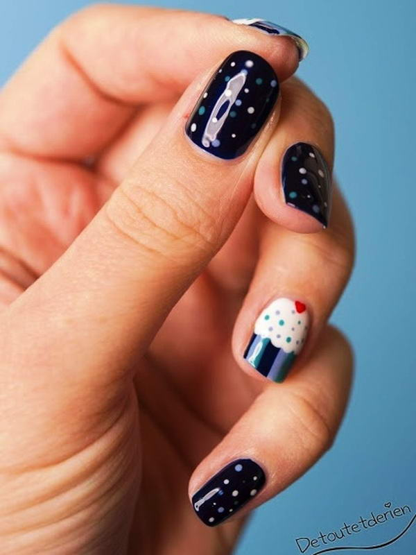 Do you want to have these cute cupcake nail arts cupcake nail art prinsesfo Gallery