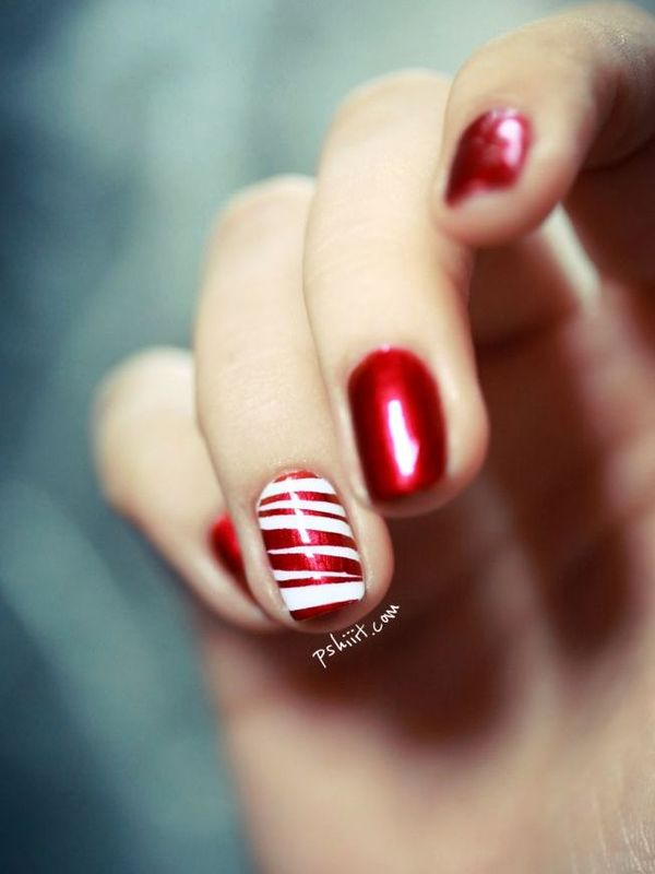 Who wants to try these candy cane nail arts candy cane nail art prinsesfo Choice Image