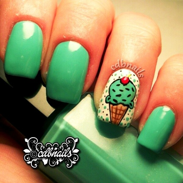 Yummy Ice Cream Nail Arts For Foodies