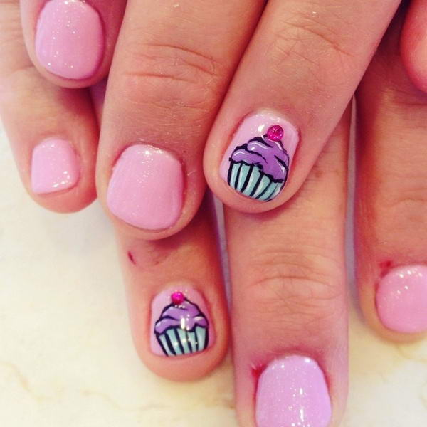 Do you want to have these cute cupcake nail arts cupcake nail art prinsesfo Images