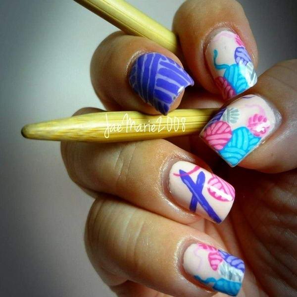 Knit Nail Arts For The Winter Season!