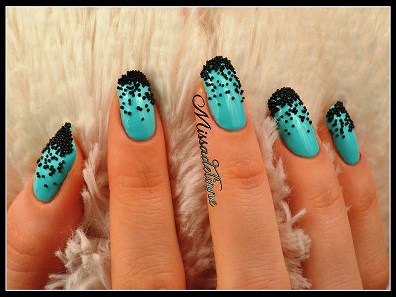 Who Will Try These Gorgeous Caviar Nail Arts