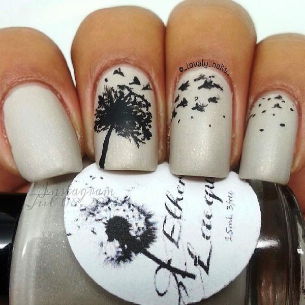 Will you try these dandelion nail arts dandelion nail art prinsesfo Choice Image