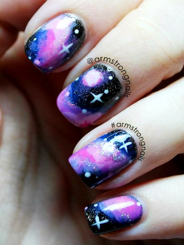 Who Want To Get These Galaxy Nail Arts