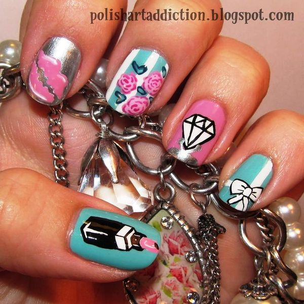 Who Wants To Get These Gorgeous Diamond Nail Arts