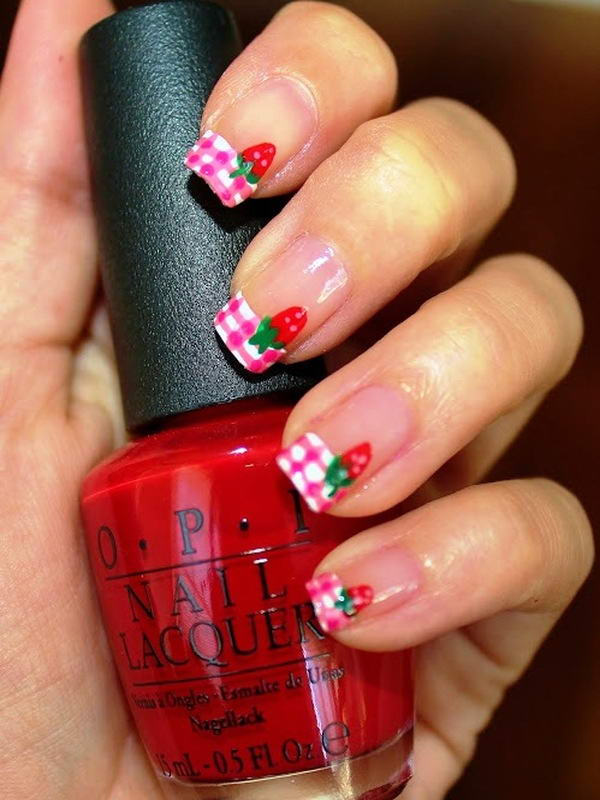 Who Will Try These Adorable Strawberry Nail Arts