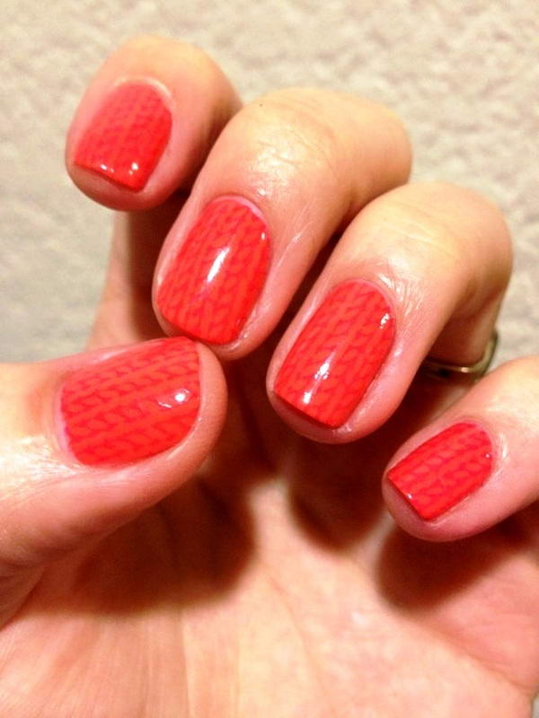 Knit nail arts for the winter season by using stamps or you can do it by yourself if you have a tiny brush to hold with a very steady hand apply a top coat to make it stay longer solutioingenieria Choice Image