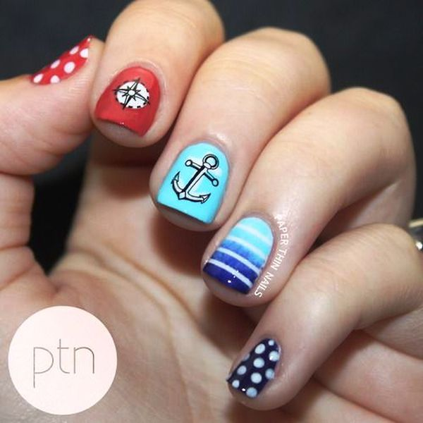 Who wants to get these anchor nail arts anchor nail art prinsesfo Gallery
