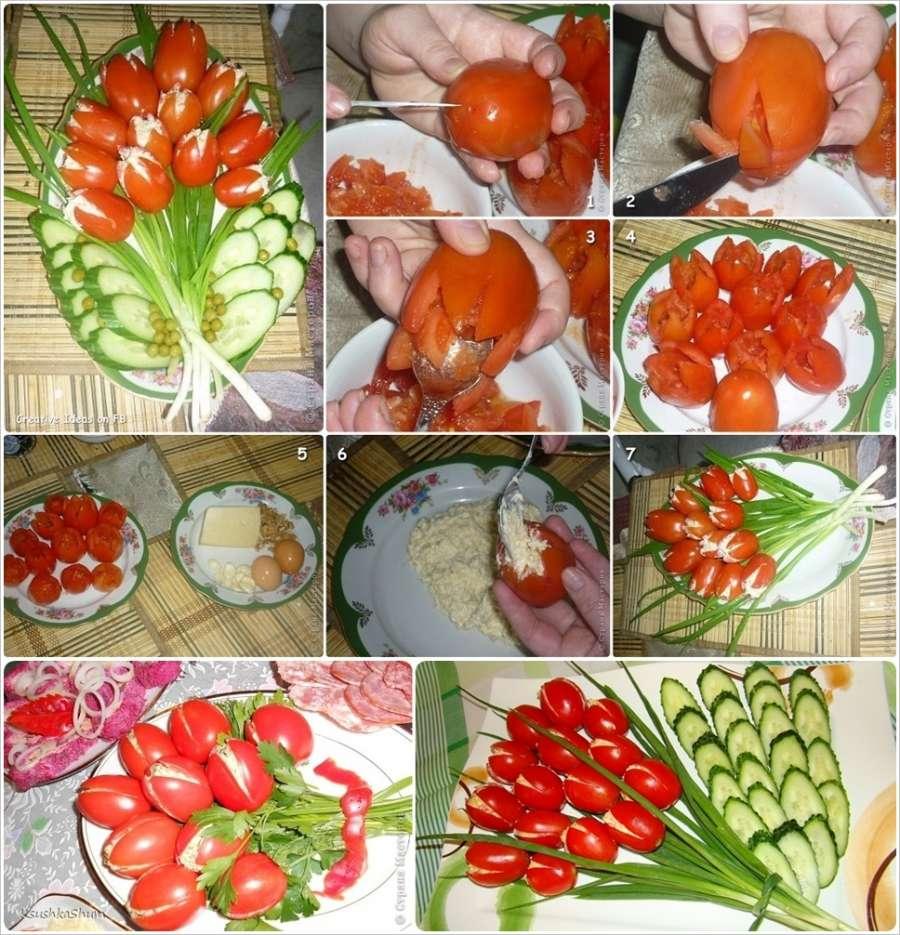 Украшение для блюд из овощей и фруктов своими руками