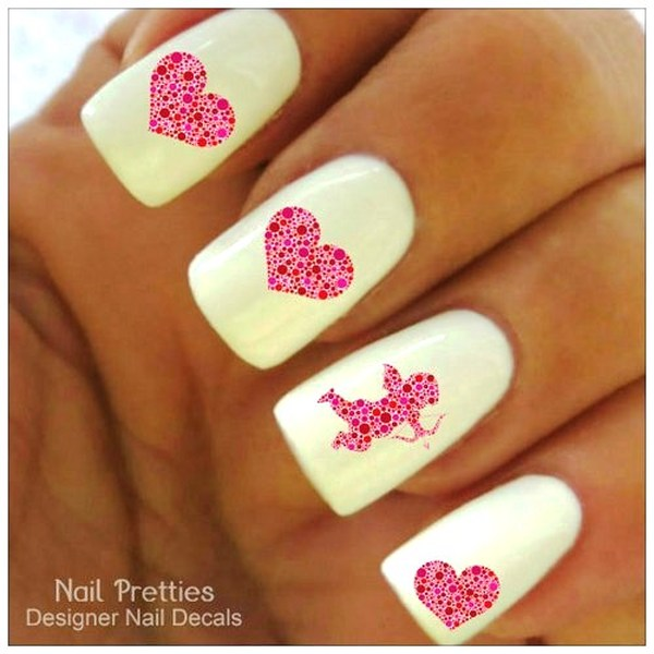 Cupid Nail Arts For Valentine\'s Day!
