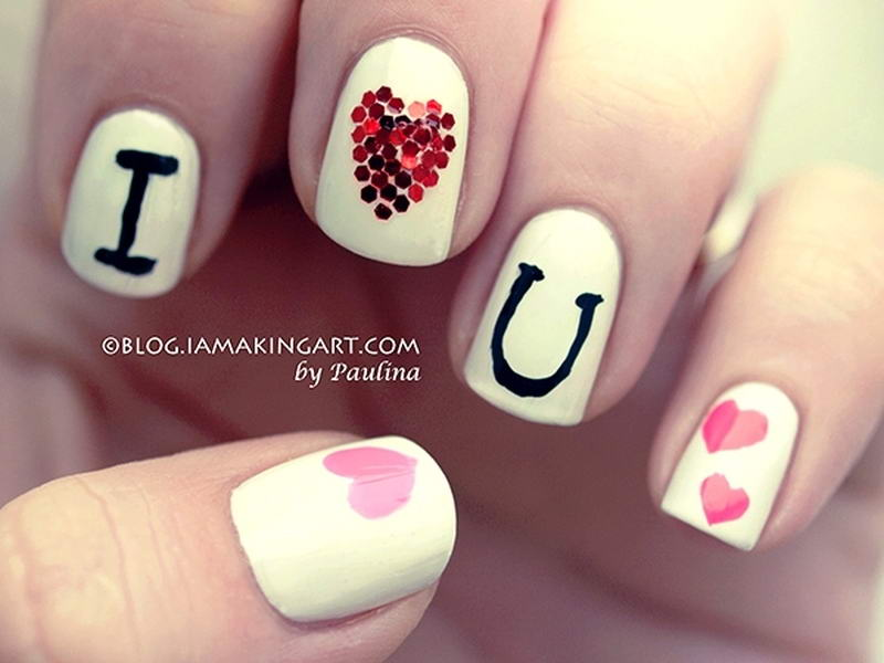 I Love You Nail Arts For The Special Day