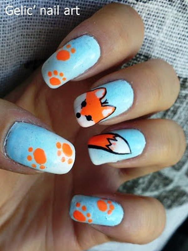 Who Wants To Get This Adorable Fox Nail Art?