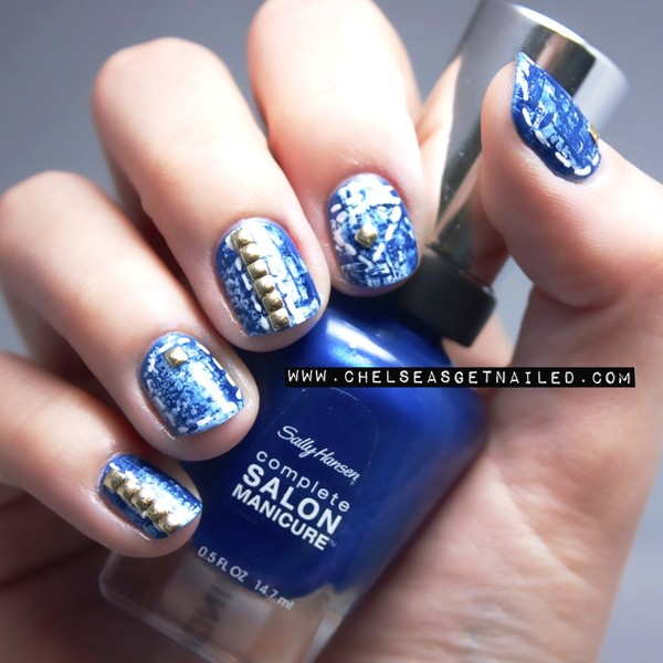 denim nail arts
