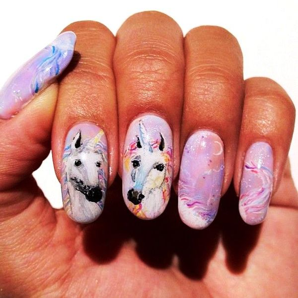 Mystical unicorn nail arts for your nails unicorn nail art prinsesfo Image collections