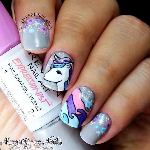 unicorn nail art - Mystical Unicorn Nail Arts For Your Nails!