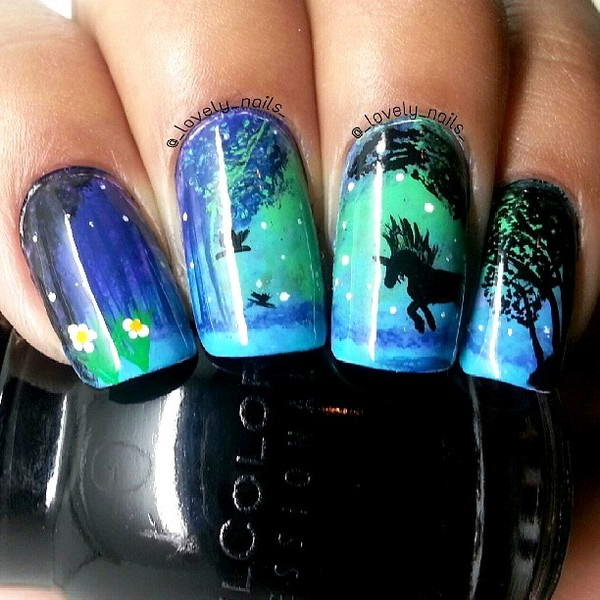 Unicorn Tipped Nail Art: Mystical Unicorn Nail Arts For Your Nails