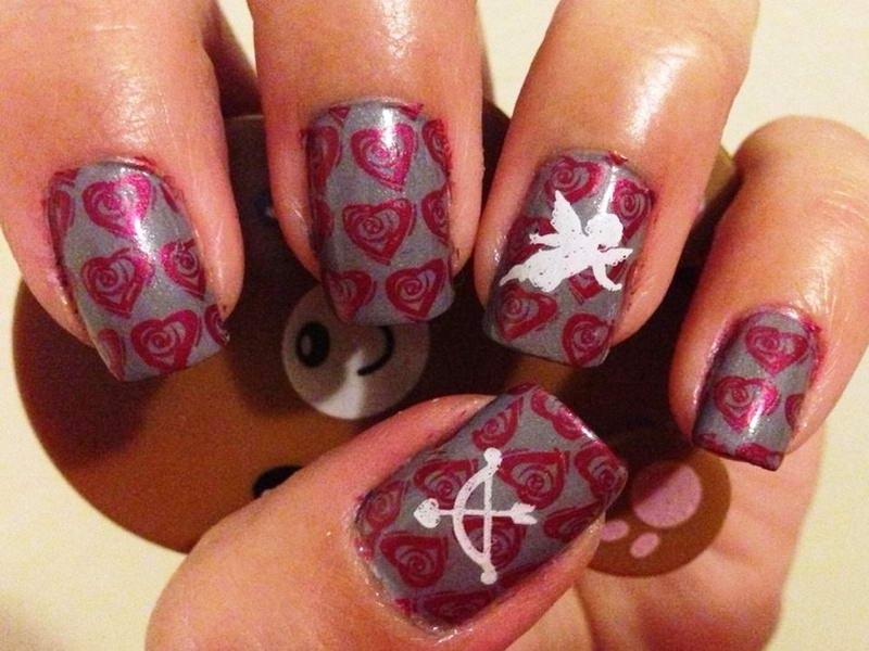 Cupid nail arts for valentines day cupid nail art via pinterest prinsesfo Choice Image