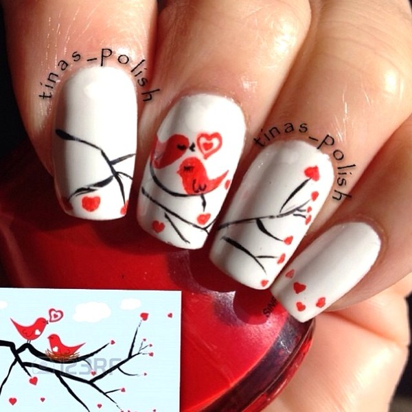 bird nail art - Who Would Like To Have These Adorable Bird Nail Arts?