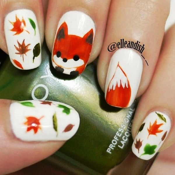 Fox Nail Designs: Who Wants To Get This Adorable Fox Nail Art?