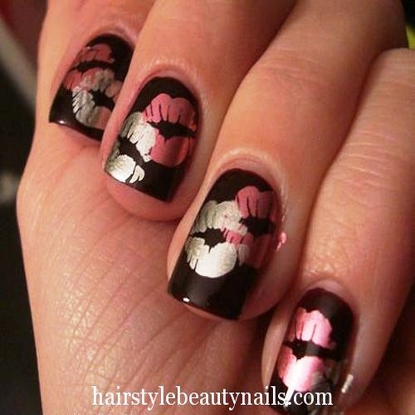 Kiss Nail Arts For The Valentine\'s Day!