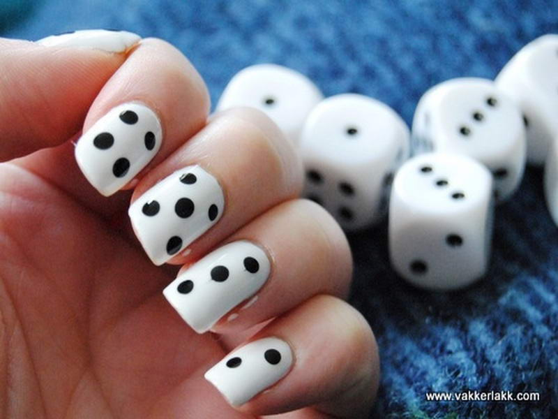 Will you try these cute dice nail arts dice nail art prinsesfo Image collections