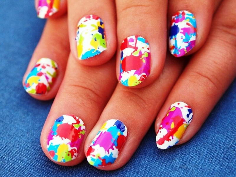 Who wants to try these splat nail arts splat nail art prinsesfo Image collections