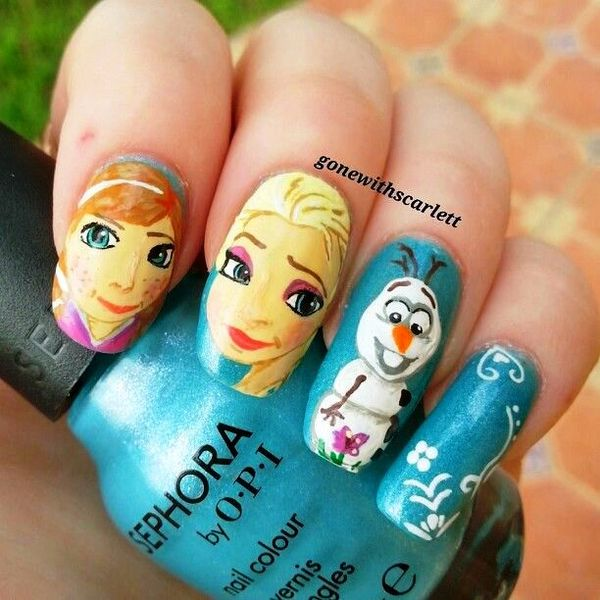 Will you try these frozen movie nail arts frozen nail art prinsesfo Images