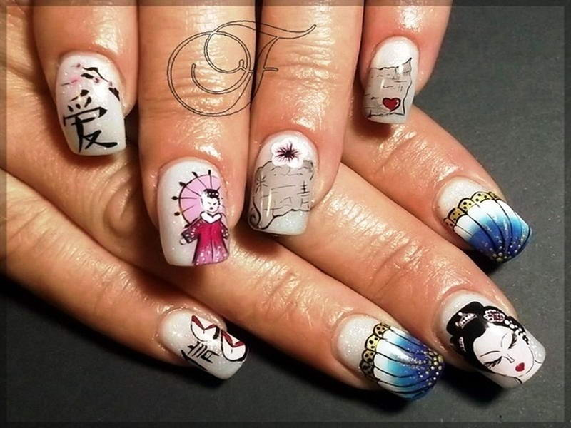 Who Wants To Try These Pretty Geisha Nail Arts?