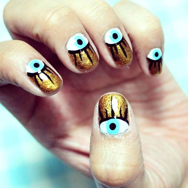 eye nail art - Would You Like To Have These Eye Nail Arts?
