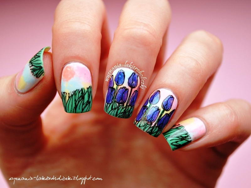 Would You Try These Adorable Tulip Nail Arts For The Spring