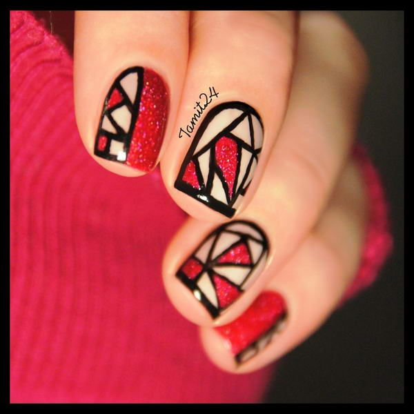 Stained Glass Nail Art: Who Wants To Get These Colorful Stained Glass Nail Arts?