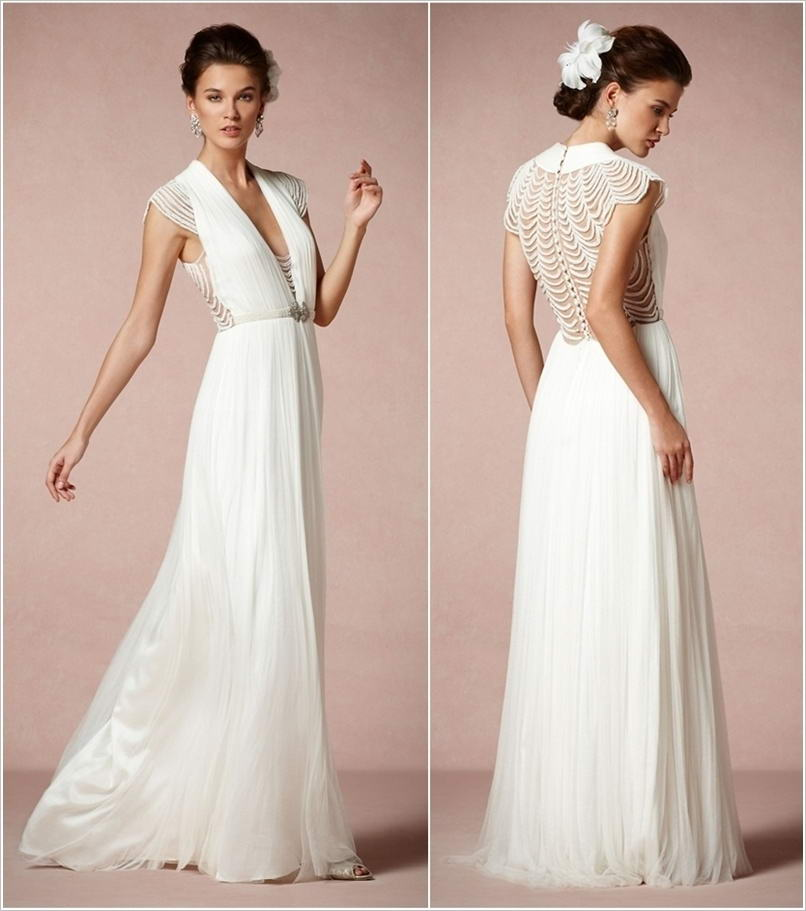 These Pearl Embellished Wedding Dresses are So Sublime