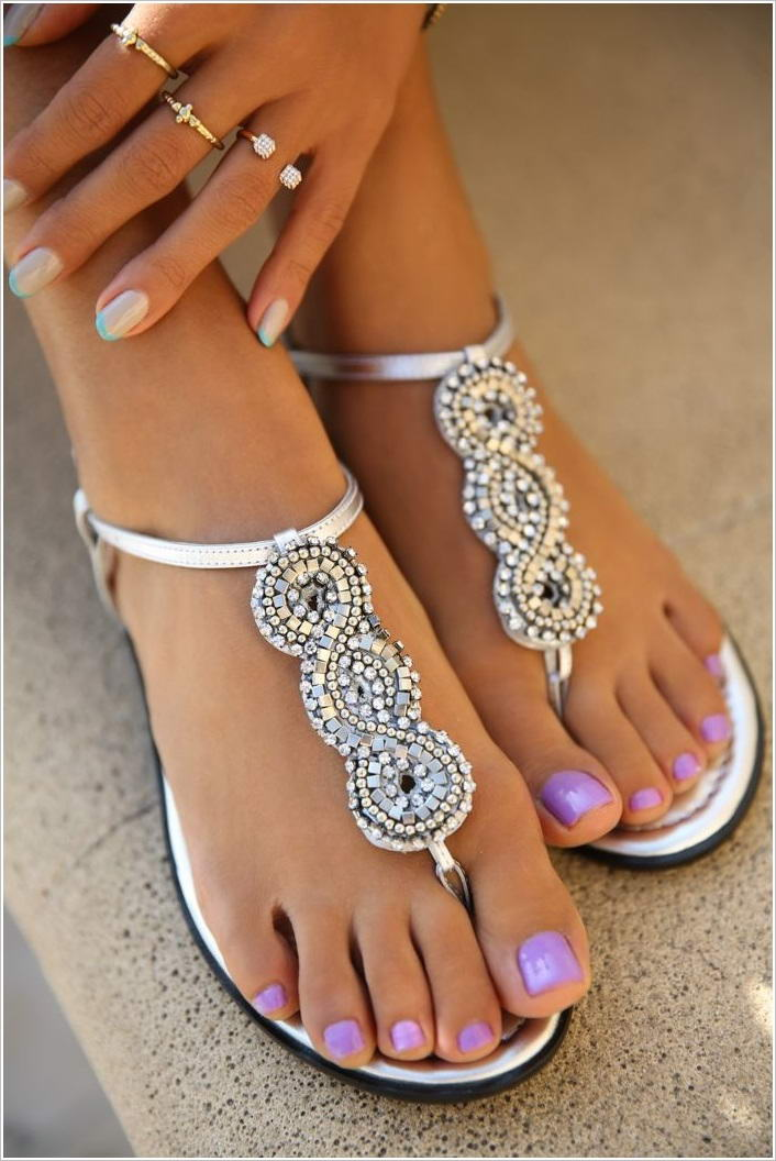 Show Off Your Style In These Stunning Beaded Sandals