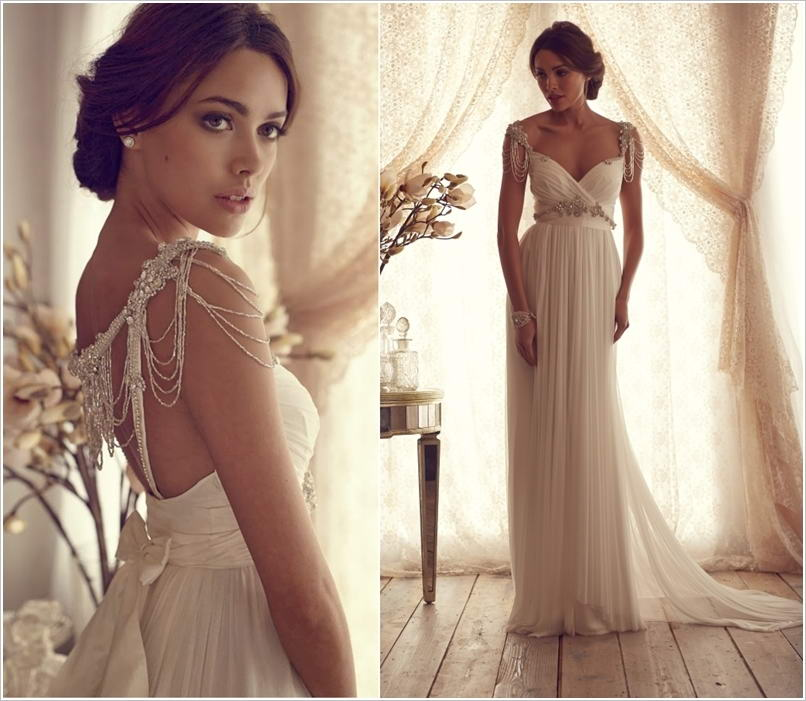 These Wedding Gowns With Beaded Shoulder Straps Are Just Gorgeous