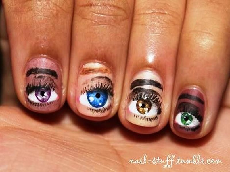 Would You Like To Have These Eye Nail Arts?
