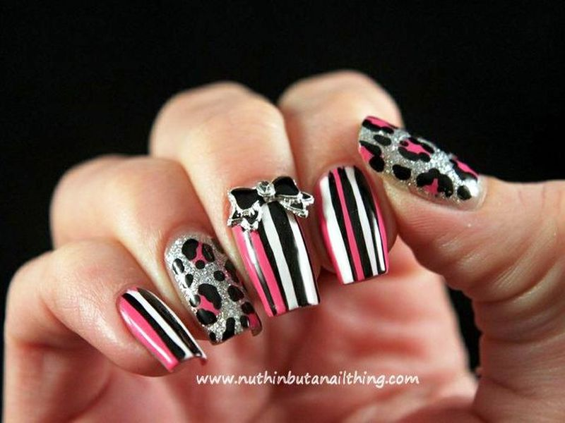 Who wants to get these cute pink leopard print nail arts pink leopard print nail art prinsesfo Choice Image