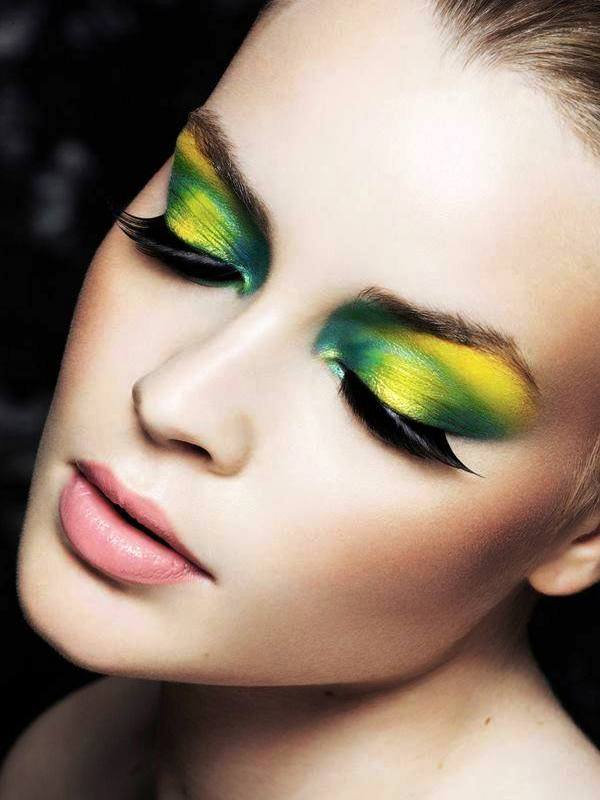 Yellow Eye Makeup For The Divas