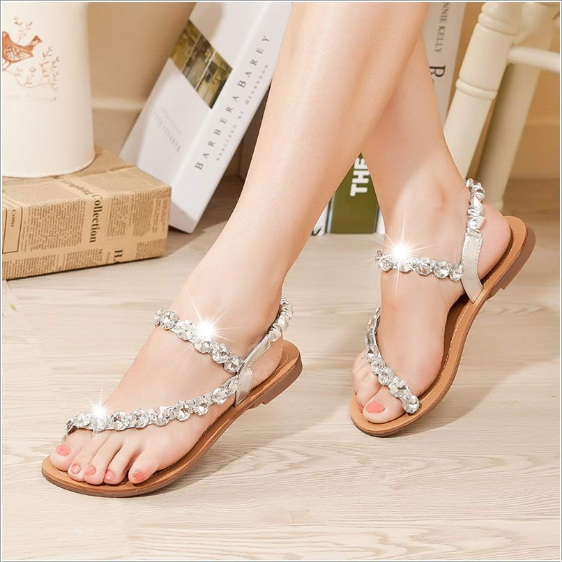 every bride will love to wear these wedding flat sandals