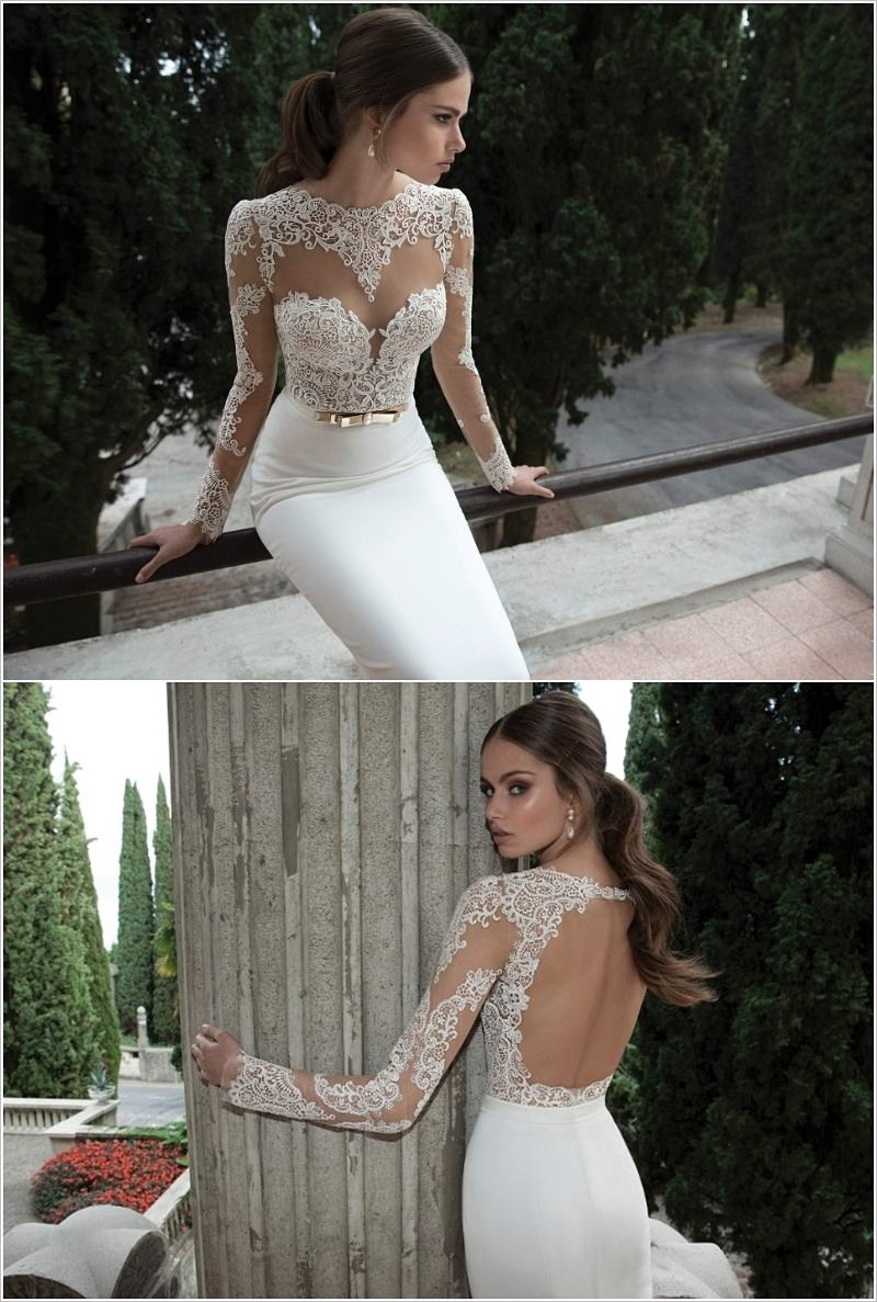 Sexy fitted wedding dresses