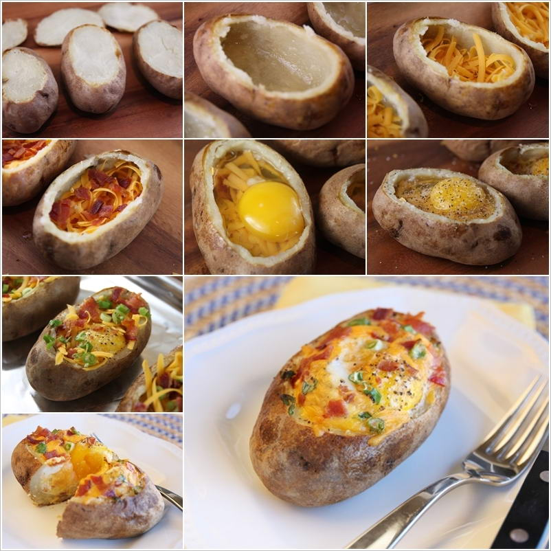 Stylish Board Make These Yummy Baked Egg Potato Bowls for Breakfast