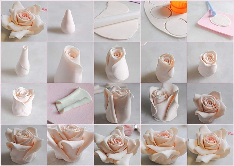 Cake Decorating How To Make Fondant : Decorate Your Cakes with These Beautiful Fondant Roses
